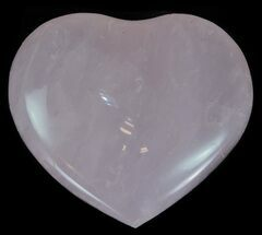 Small Polished Rose Quartz Hearts - 1 Piece