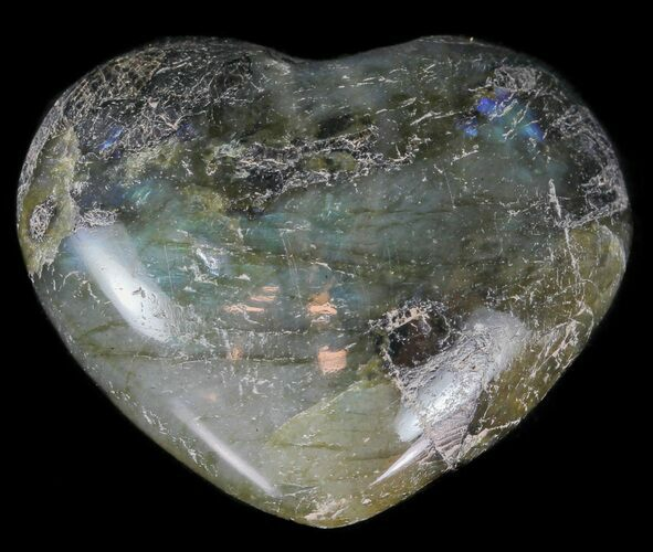 Small Polished Labradorite Hearts - 5 Pack - Photo 1