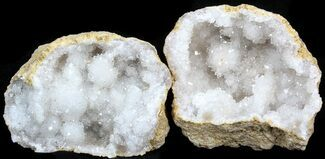 "Wholesale: 3-4"" Unopened Quartz Geode From Morocco - 50 Pack"