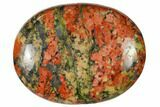 "1.8"" Polished Unakite Pocket Stone  - Photo 2"