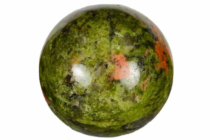 ".9"" Polished Unakite Sphere - Photo 1"