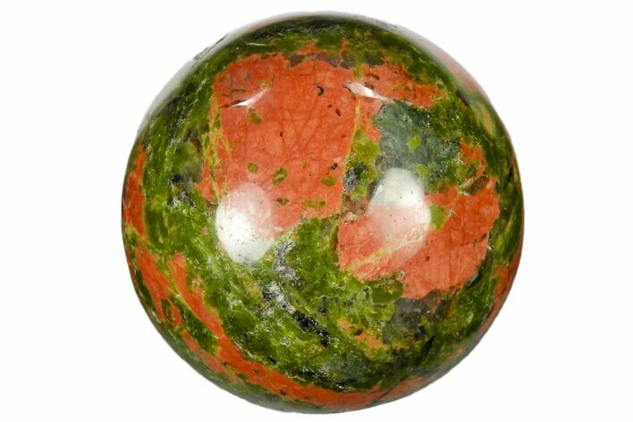 "1.2"" Polished Unakite Sphere - Photo 1"