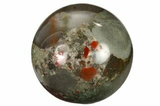 ".9"" Polished Bloodstone Sphere"
