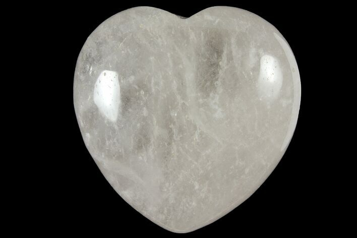 "1.6"" Polished Clear Quartz Heart - Photo 1"