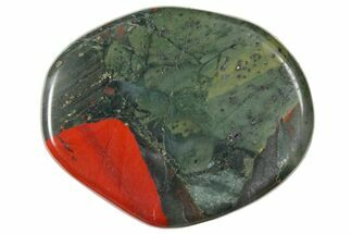 "1.8"" Polished Bloodstone Flat Pocket Stone"