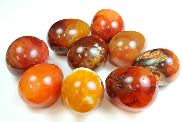 "1.5"" Polished Carnelian Agate Egg - Photo 1"