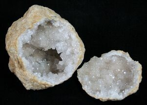 "2"" Sparking, Pre-Cracked, Quartz Geodes From Morocco"