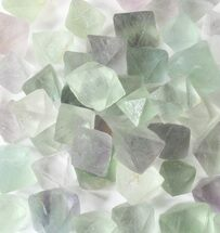 Bulk Green Fluorite Octahedral Crystals - 25 Pack