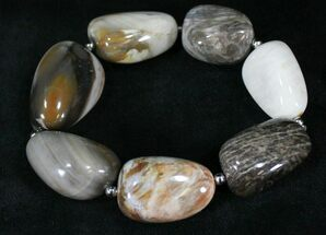 Buy Polished Oregon Petrified Wood Bracelet - #24610