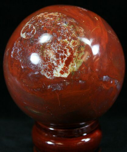 "2.6"" Colorful Petrified Wood Sphere"