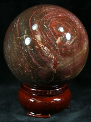 "2.4"" Colorful Petrified Wood Sphere"