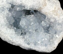 "Buy 5.5"" Blue Celestite Geode - Madagascar - #31243"