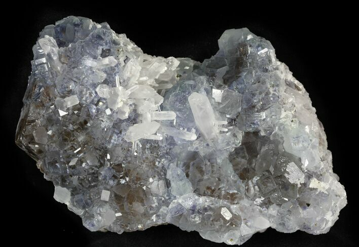 "6.47"" Blue Fluorite, Quartz, Pyrite, Fujian Province, China"