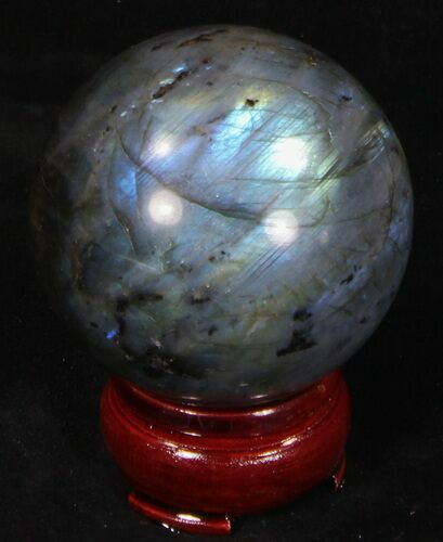 "2.35"" Flashy Labradorite Sphere - Great Color Play"