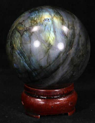 "2.34"" Flashy Labradorite Sphere - Great Color Play"