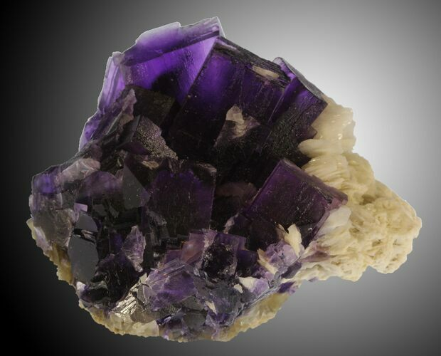 "Gorgeous 2.68"" Cubic Fluorite on Bladed Barite - Cave-in-Rock, Illinois"