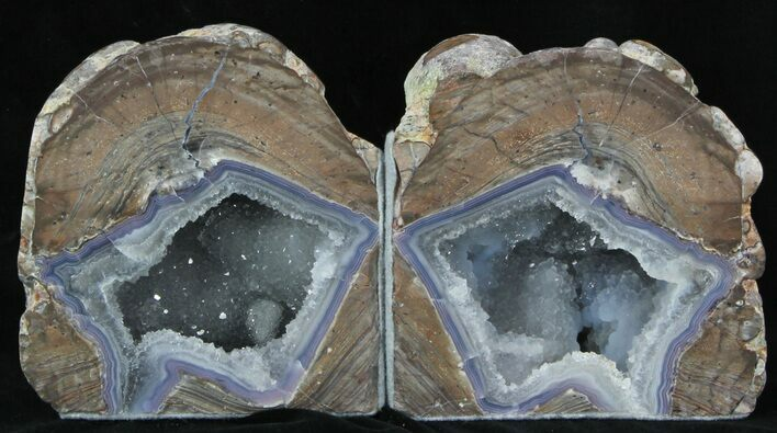 "4.2"" Dugway Geode Bookends - Sparking Crystals"