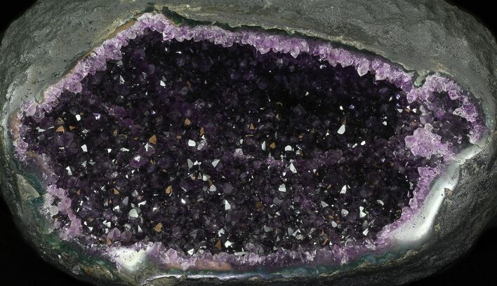 "11.5"" Deep Purple Amethyst Geode - Top Quality"