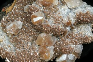 "3.5"" Zoned, Red Calcite Crystal Cluster - Santa Eulalia For Sale, #33833"