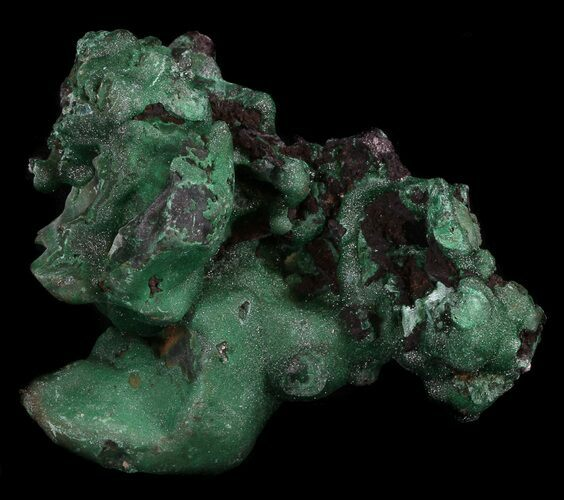 "3.1"" Dark Green Chrysocolla Crystals - Zaire"