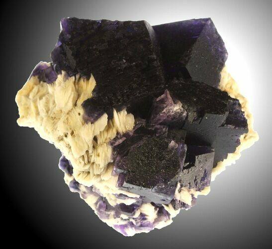 "Beautifu 2.16"" Cubic Fluorite on Bladed Barite - Cave-in-Rock, Illinois"