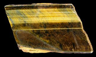 "5.4"" Polished Tigers Eye Slab For Sale, #36545"