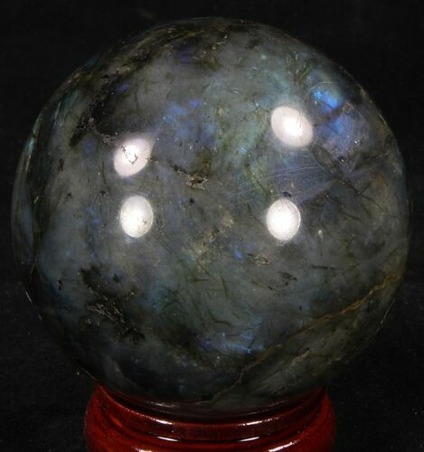 "2.63"" Flashy Labradorite Sphere - Great Color Play"