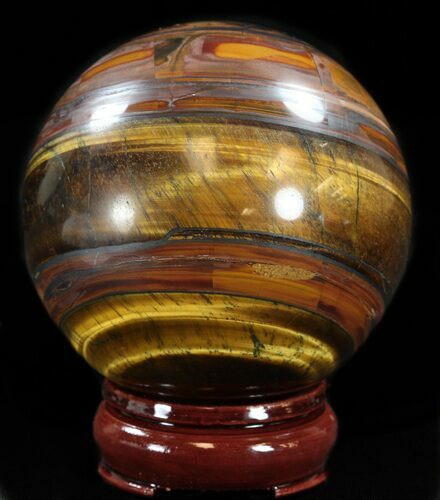 "3.4"" Polished Tiger's Eye Sphere"