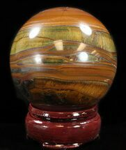 "Buy 2.4"" Polished Tiger Iron (Tiger's Eye) Sphere - #37612"