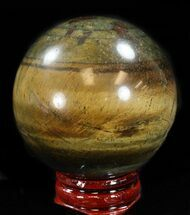 "Buy 2.1"" Polished Tiger Iron (Tiger's Eye) Sphere - #37684"