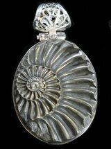 Buy Pyrite Ammonite Fossil Pendant - Sterling Silver - #37963