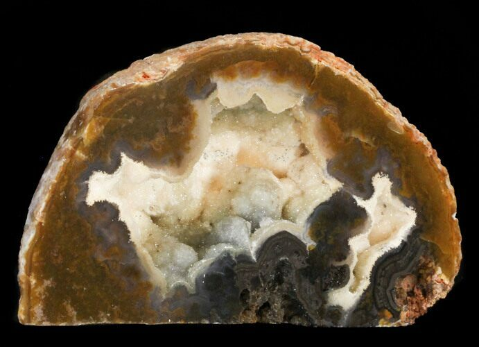 "1.9"" Polished Brazilian Agate Standup - Druzy Quartz"