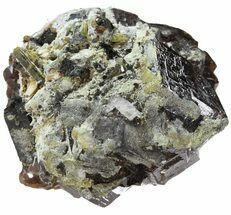 "1.3"" Garnet Cluster with Feldspar, Epidote and Mica - Pakistan For Sale, #38705"