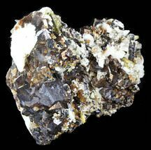 "Buy 2.8"" Garnet Cluster with Calcite, Epidote, Mica & Feldspar - Pakistan - #38734"