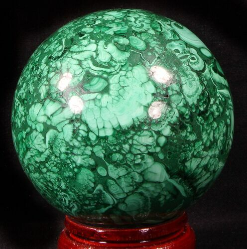 "Gorgeous 2.75"" Polished Malachite Sphere - Congo"