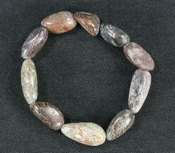 Colorado Agatized Dinosaur Bone Bracelet For Sale, #40860