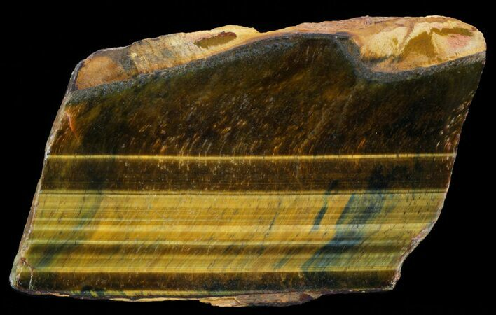 "5.1"" Polished Tigers Eye Slab"