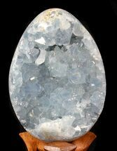 "Buy 5.4"" Blue Crystal Filled Celestite ""Egg"" - Madagascar - #41713"