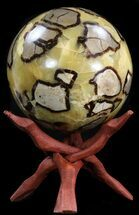 "6.2"" Polished Septarian Sphere - 12.5 lbs For Sale, #43787"