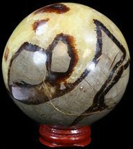"Buy 3.26"" Polished Septarian Sphere - With Stand - #43849"