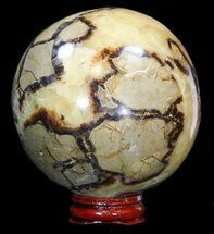 "3.4"" Polished Septarian Sphere - Madagascar For Sale, #43865"