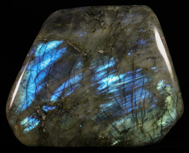 "6.3"" Tall, Flashy Polished Free Form Labradorite"