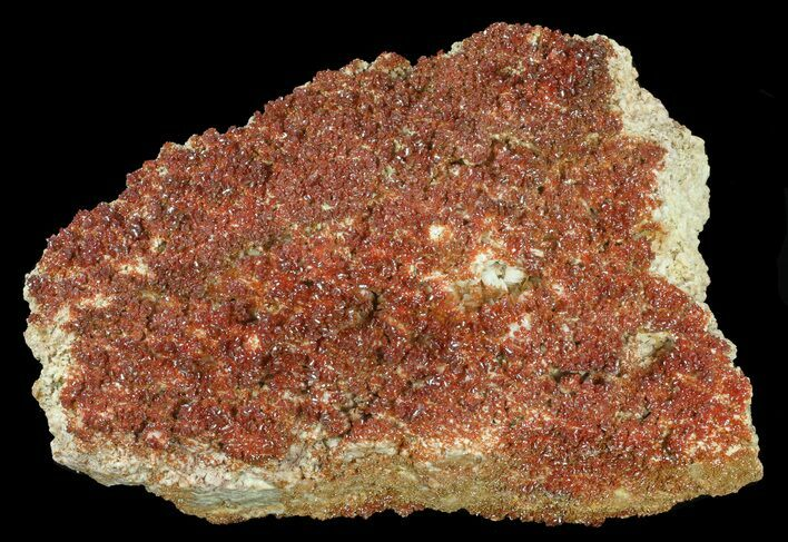 "11"" Plate, Sparkling, Ruby Red Vanadinite Crystals"