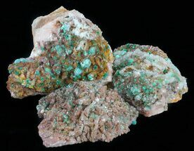 Malachite, Dolomite & Selenite - Fossils For Sale - #59949