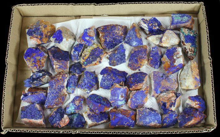Sparkling, Drusy Azurite & Malachite Wholesale Lot -41 Pieces