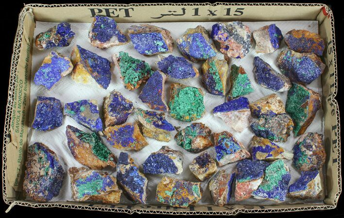 Sparkling, Drusy Azurite & Malachite Wholesale Lot -42 Pieces