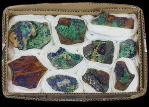 Buy Vibrant Azurite From Morocco (Wholesale Lot) - 10 Pieces - #61591