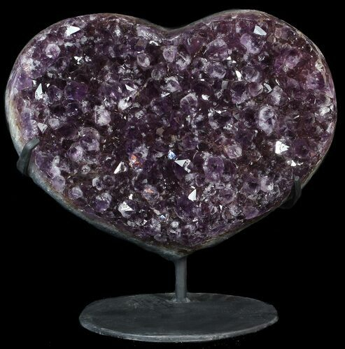 "14.2"" Amethyst Crystal Heart On Metal Stand - Uruguay"