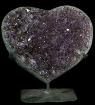 "9.3"" Amethyst Crystal Heart On Metal Stand - Uruguay For Sale, #62807"