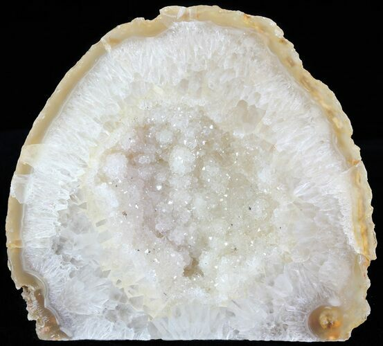 "3"" Polished Brazilian Agate Standup - Druzy Quartz"